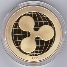 Gold Ripple Commemorative Round Collectors Coin XRP Coin is Gold Plated Coins @@