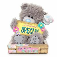 "Me to You 7"" Someone Special Plush & Flowers Plaque Gift - Tatty Teddy Bear"