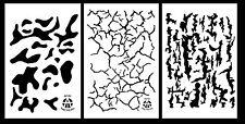 "3Pack! Vinyl Gun Stencils 10 Mil 14"" Camouflage Multicam Bark Cracked Earth"