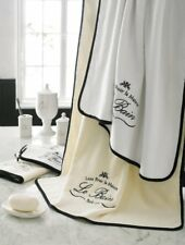 Kassatex Paris French Country Le Bain Individual Bath Towel White & Black New