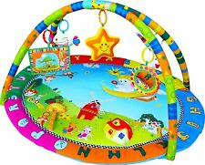 Baby Angel Play Mat Activity Gym Centre With Mirror,Music,Lights and Dangle Toys