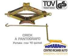 CRICK PER AUTO A PANTOGRAFO PORTATA 10 QUINTALI = 1000 KG omologato TUV-GS