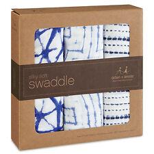 NEW Aden + Anais Bamboo Swaddle Wrap 3pk - Indigo 100% Rayon Boutique