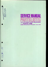 Original Factory Akai GXC 38 Stereo Cassette Tape Deck Service Manual Parts List