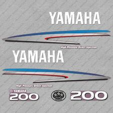Yamaha 200 HP HPDI Two 2 Stroke Outboard Engine Decals Sticker Set reproduction