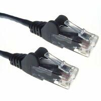 0.5M Black Rj45 Utp Cat 6 Stranded Flush Moulded Snagless Network Cable 24A