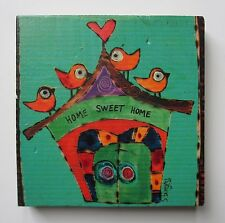 m Home sweet home PAINTED PEACE Home & Family refrigerator magnet wood