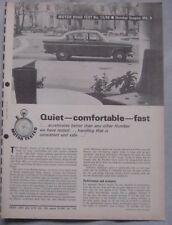 1966 Humber Sceptre Original Motor magazine Road test