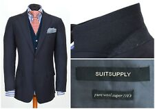 Mens SUITSUPPLY Suit Blazer Jacket Blue Wool 110S Size EU50 / UK40 L