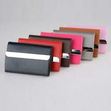 Business Synthetic Leather Bag  Men Women Credit Card Holder Metal Card Case