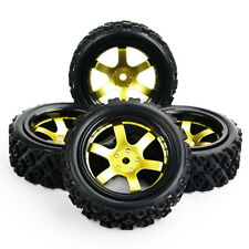 4X Rubber RC Tyre Wheel Rim For HPI HSP 1:10 Rally Racing Off Road Car D6NKG+487