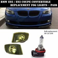 REPLACEMENT FOG LIGHT LIGHTS FOR BMW E92 E93 COUPE CONVERTIBLE YELLOW AMBER PAIR