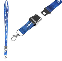 Boeing 777  Lanyard , Safety Airplane Buckle Belt, Keychain, ID Badge