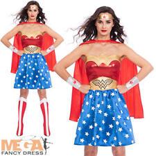 Classic Wonder Woman Ladies Fancy Dress DC Comic Book Superhero Adults Costume