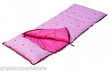 SunnCamp Junior Pink Dotty Sleeping Bag & Pillow SB1113