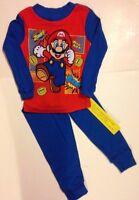 Nintendo 's SUPER MARIO Pajamas PJs Boys Sizes 4  6  8  10