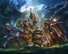 League of Legends LOL 10 Poster Art Print Gamers Wall Decoration 20x16 Inches