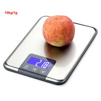 Bascula Balanza Peso Cocina Precision 10kg 1g Digital & Acero Inoxidable LCD