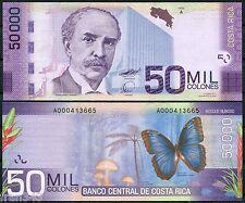 COSTA RICA 50000 Colones 2009 2012 Pick 279  SC  / UNC