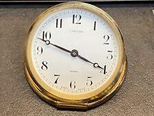 Cartier 8 Day Brass Desk Alarm Clock Shelf Mantle - Missing Battery Cover