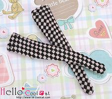 ☆╮Cool Cat╭☆【KS-97N】Blythe/Pullip(1/6)Knee Socks # Black+Pink Grid