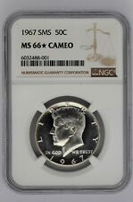 1967 SMS 50C Kennedy Half Dollar NGC MS 66 Star Cameo
