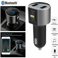 Bluetooth In Car FM Transmitter Wireless MP3 Radio Adapter 2 USB Charger Car Kit