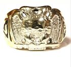 10k yellow gold mens 32nd Mason Masonic ring 10.3g gents vintage estate antique for sale