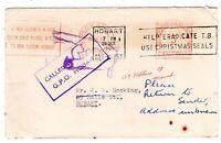 Tasmania CALLED POSTMAN HOBART handstamp on 1965 RTS cover