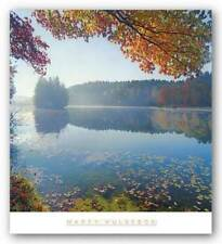 Bass Lake In Autumn I Marty Hulsebos Art Print 27x27
