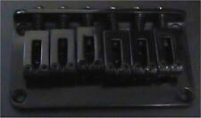 Guitar Parts 6 Saddle FIXED HARDTAIL BRIDGE - Top Load - BLACK