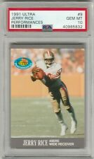 Jerry Rice 1991 Fleer Ultra Performances PSA 10 Gem Mint *POP 19* 49ERS HOF