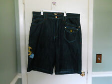 Ricco Tizio Rich Guy Denim Shorts Size 42 Wing Tattoo Shorts Loose Fit NWT