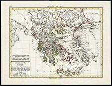 Antique Print-MAP-GREECE-MACEDONIA-THRACIA-Tardieu-Mentelle-1804