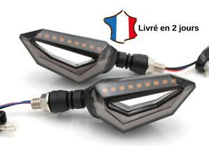 Mota Clignotant LED Moto Universel Feux de Jour Blanc Indicateur 12V Paire Neuf