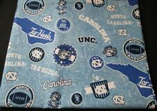 University of North Carolina Cotton Fabric with Home State Cotton Design