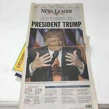 NEWSPAPER NOVEMBER 9, 2016 DONALD TRUMP HILARY CLINTON ELECTION Win Newsleader