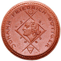 Schleiz - Münze - 1 Mark 1922 - Johann Friedrich Böttger - Meissen - Porzellan