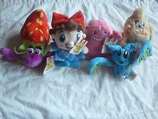 Candy Crush Saga -Set of 5 Plush Soft Doll Toys BRAND NEW wTag Game App Bat,Crab