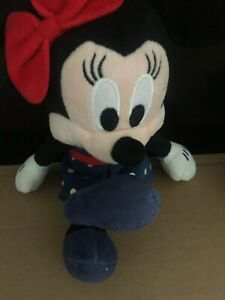 Minnie Mouse Soft Teddies x 2 Green Shoes and Blue Minnie