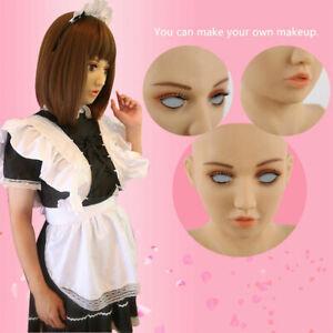 Silicone Rubber Female Mask - Latex Girl Disguise masquerade crossdress SF-15