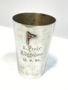 Berliner Segler Club Müggelsee - Regatta 1896 - Sieger Pokal Becher, 800 Silber