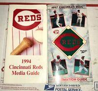 Cincinnati Reds 1994 and 1997 Media Guides