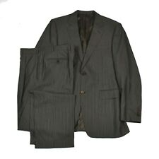 CANALI 2PC Suit Brown Striped Dual Vent EU 50R US 42R Pants 34 MINT