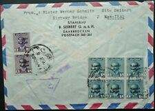 IRAQ 1960's INTERESTING AIRMAIL COVER TO SAARBRUCKEN, WEST GERMANY - CENSORED