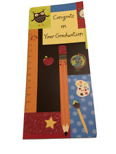 GRADUATION Money Holder CARD With OWL. Congrats Grad With Sparkle