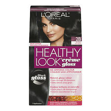 L'Oreal Healthy Look Creme Gloss Hair Color, 2B Blue Black / Licorice