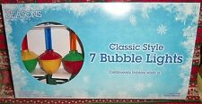 BUBBLE STRING LIGHTS *7 CT* ~ 7 FT ~ BUBBLE CONTINUOUSLY  ~IN/OUTDOOR ~NEW ~LQQK