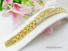 Yellow Gold Gp Bracelets Cz Free Ship Dragon Bracelets Men New 22K 23K 24K