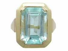 Cocktail Natural Aquamarine Fine Rings